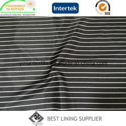 100% de poliéster Stripe Forro de Impressão Padrão