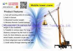O melhor preço 3ton Dobra Mini grua-torre pelo fabricante da China