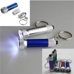 6 van Draagbare 5 LEIDENE van kleuren Flitslicht het MiniKeychain van het Aluminium