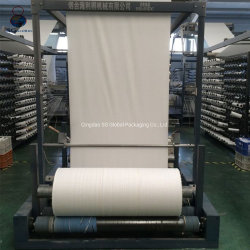 PP blanco personalizado rollo de tela de rafia tejida de polipropileno