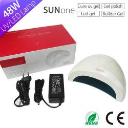 Las tendencias futuras de 2017 Nuevo producto Professional 24/48W LED Lámpara UV uñas pelo Sunone