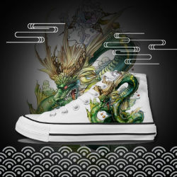 Haut de la cheville Greenshoe plaine pas cher Hommes chaussures en toile imprimé personnalisé, les hommes chaussures en toile Canvas Sneakers, hommes chaussures occasionnel
