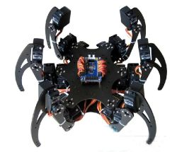 Alumínio Hexapod Spider Six 3 Dof Legs Robot Frame Kit + Clamp Set Totalmente compatível com Arduino