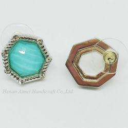 Элегантный алюминиевый Earring моды полимера золото ретро вкладыши шпильки