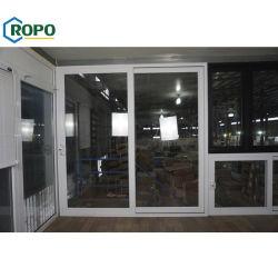 Австралийский стандарт в качестве2047 алюминиевый раздвижной двойной закаленного стекла задней двери