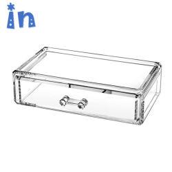 Effacer la boîte de rangement de bijoux en acrylique empilable pour salle de bains
