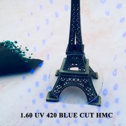 1.56 UV420 Blue Ray Blocker/filtre de lentilles de lunettes optiques progressive