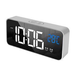 Будильник, цифровые часы с температуры на дисплее, Snooze, питание от батареи и зарядное устройство USB с двумя сигналов тревоги для спальни, прикроватные тумбочки,& поездки