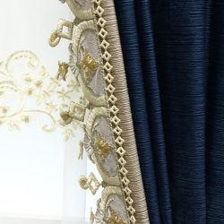 Luz modernas Luxury simples Baeta Seda estampadas elegante sala de estar quarto Cortina de Sombreamento Produtos de Pano