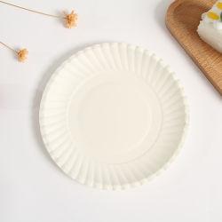 تخصيص أبيض طبق حديث يمكن التخلص منه من الورق لعيد الميلاد الطفل حفلة عيد ميلاد الحفلة عيد القديسين