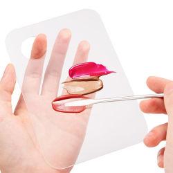 Maquillaje de uñas de acrílico de cosméticos de mezcla de la sombra de ojos paleta espátula de acero inoxidable + herramienta equipo Nail Art