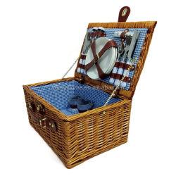 Handgemaakte Picknickmand Wicker opbergdoos Picknick 3 Stijlen van Camping Picnic Basket voor vakantie