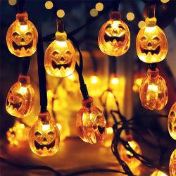 Halloween 호박 유령 해골 박쥐 거미 LED 가벼운 끈 축제 바 홈 당 장식 Halloween 장신구