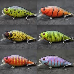 La pêche Lure Bibless Crankbalts naufrage leurres Vibrations Mustad hameçons triples pour la truite saumon Bass Tackle Box