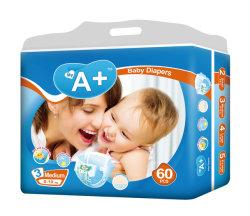 中国の安く柔らかい通気性の眠く使い捨て可能な赤ん坊のおむつの製造業者