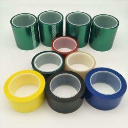高温シリコーン付着力の緑ペットポリエステルテープに塗る粉