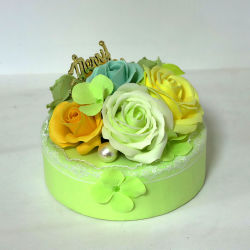 Romantic aniversário bolo adorável Sope Flower