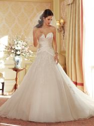[مرميد] [أفّ-شوولدر] [بريدل غون] شريط تول ينظم عرس ثياب أطلس ثوب زفافيّ