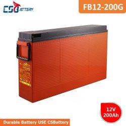 Csbattery 12V 200Ah Wholsele recargable, batería de gel para inversor/generador/Submersible-Motors/Electric-Scooter/VS: Fortuna/King-Energy