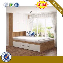 新式の木の寝室の家具の一定の子供のサイズのワードローブが付いている単一の寮のベッド