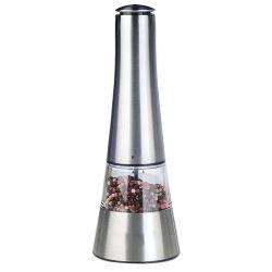 Корпус из нержавеющей стали работать от батареи соль перец кофемолка автоматическая электрическая мельница Spice вибрационного сита