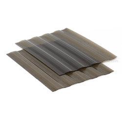 熱い販売のよい価格のLexanのプラスチック反紫外線屋根の草色カラーきれいな版の中国からの波形のポリカーボネートシート
