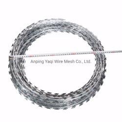 Galvanisierte heißes BAD Bto-22 Rasiermesser-Stacheldraht-Ziehharmonika-Rasiermesser-Draht-Ring-Rasiermesser-Draht 450mm