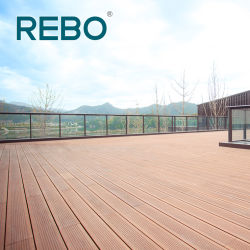 Installation facile en plein air matériau de revêtement de sol en bambou Scrimber Decking Conseil