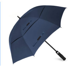 60/68인치 자동 맞춤형 로고 프린팅 더블 벤트형 골프 우산 선물/프로모션/애드버스팅/브랜드 우산을 위한 캐노피