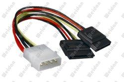 """5,25""""ATX 4p à 2x Série doubleur de câble d'alimentation SATA"""