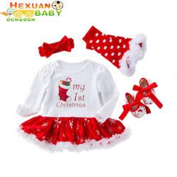 Commerce de gros vêtements d'enfants Les enfants d'été soirée anniversaire fillette occasionnel robe de fête pour bébé
