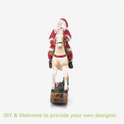 De fabriek verkoopt direct het Beeldje van de Kerstman van Kerstmis van het Standbeeld van de Hars Polyresin