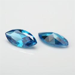 Checker couper le verre de haute qualité en pierre bleue de la mer de grandes pierres de verre desserrés