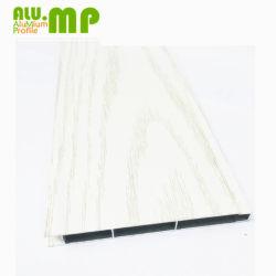 Слоновая кость Деревянные зерна алюминиевый профиль угловое крепление пластины