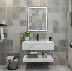 ألواح جرانيت رمادية ناعمة لأسطح الجرانيت، أغطية الحمام