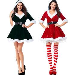 Weihnachten Weihnachtsmann kostümiert Weihnachtsausstattungs-Erwachsen-Größen-Weihnachtsengels-Abendkleid-Kostüme