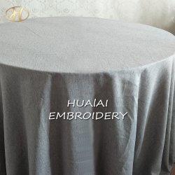 卸し売り高品質の長方形の銀カラー織物の綿のホーム装飾のためのリネンテーブル掛けの布