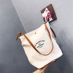 Sacchetto di acquisto promozionale personalizzato commercio all'ingrosso della tela di canapa poco costosa di prezzi
