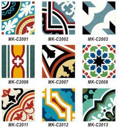 Новая конструкция красочное оформление шаблона серии плитки на стене