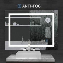Specchio illuminato LED astuto della mobilia della stanza da bagno di prezzi di fabbrica di disegno di progetto dell'hotel per lo specchio domestico di trucco della decorazione