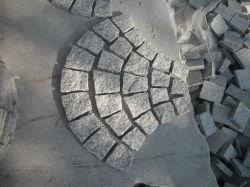 Pedra de calçada de granito de pedra natural no Mesh para Rua Ourtdoors/Jardim/Landcaping
