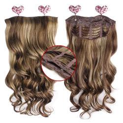 Nouvelle arrivée double mode Trame Curly Style Collier synthétique dans les cheveux de l'extension
