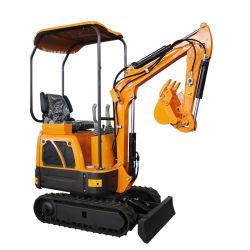 Mini sistema hidráulico Bulldozer pequenos blocos de esteiras de aço 1200 kg Preço da escavadeira para venda