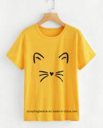 女性ティーワイシャツ、熱伝達の印刷のティーワイシャツ