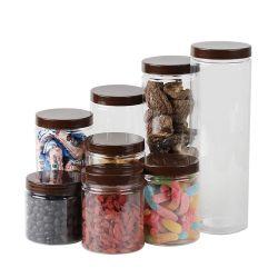 El almacenamiento de alimentos de la cocina perfumado té frutas secas tarro de miel de plástico PET envases alimentos envases de plástico
