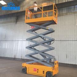 Plataforma de trabajo de la antena de elevador de tijera, sistema hidráulico de elevación eléctrica elevador móvil Hombre, el precio, mejor el elevador de tijeras, elevador de tijera móvil