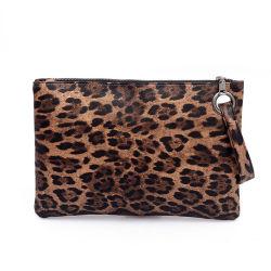 Hot Vente Leopard cuir synthétique Lady designer de mode femmes sac à main d'embrayage Bracelet Sacs à main pour le commerce de gros