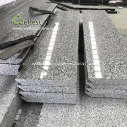 Matériau de construction en granit gris clair des mesures pour l'escalier extérieur