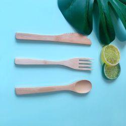 Eco freundliches Bambustischbesteck gabelt Messer-und Löffel-vollkommene Alternative für Plastik frei