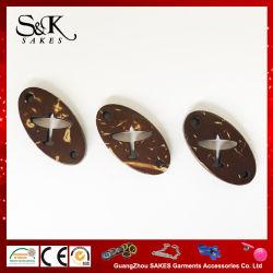 Plan de forme ovale Logo Bouton de noix de coco naturel pour les vêtements